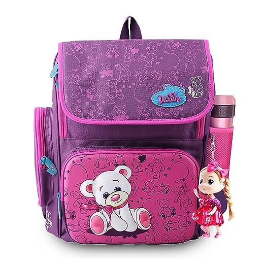 7c73c2ecf393 Amashz Backpack School Satchel Children School Bags Orthopedic Waterproof  Backpacks (Pink)