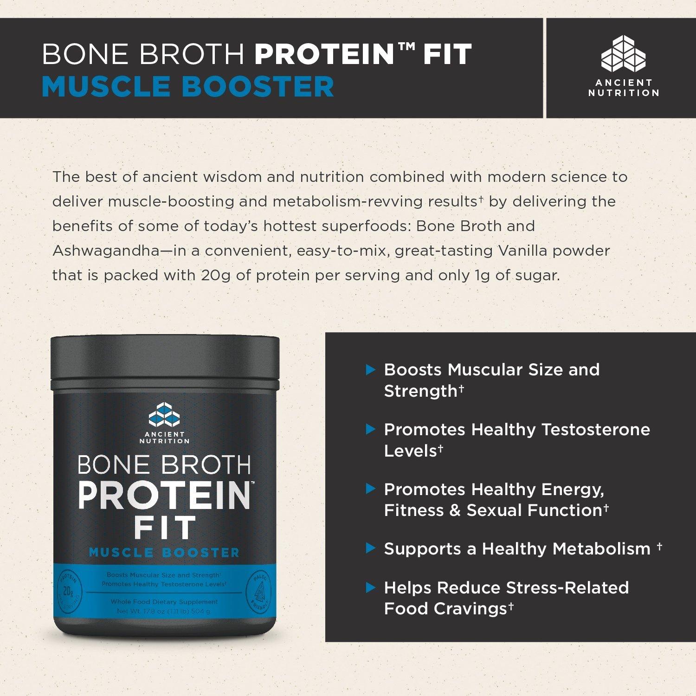 Ancient Nutrition - Aumentador de presión del hueso caldo proteína muscular forma - 17.8 oz.: Amazon.es: Salud y cuidado personal
