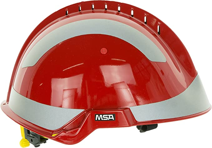 Msa Safety Schutzhelm F2 X Trem Rot Reflexstreifen Kinnriemen Baumarkt