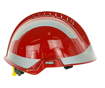 MSA Safety – Casco protector F2 X -Trem | Rojo | reflectantes | correa de