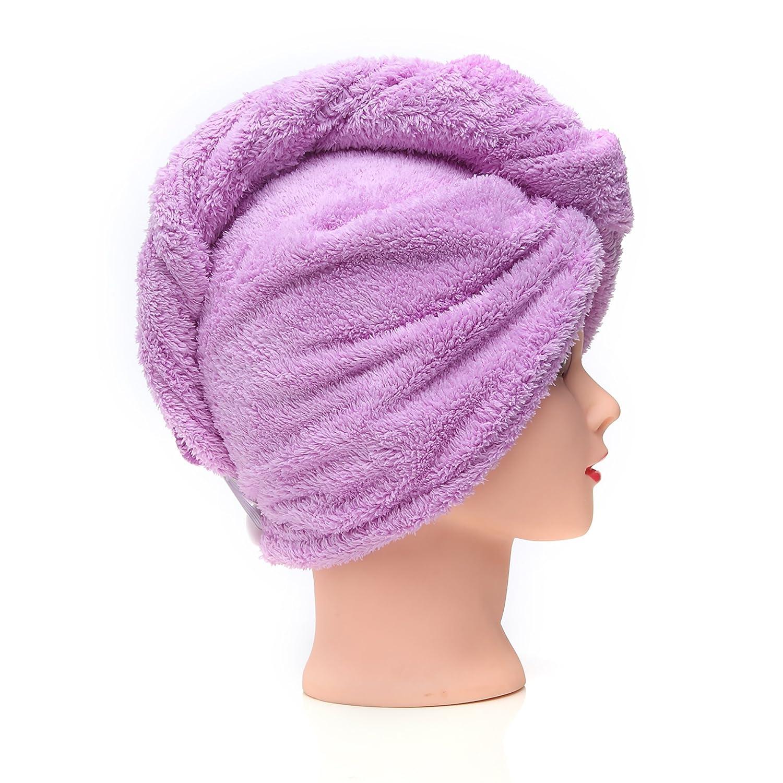 KingOfHearts peluquería toallas de secado rápido - secado de franela de secado microfibra suave giro, rápido reducir el tiempo de secado maquillaje facial ...
