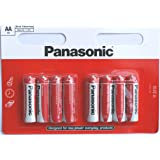 8 Panasonic AA Zinc Chloride Batteries