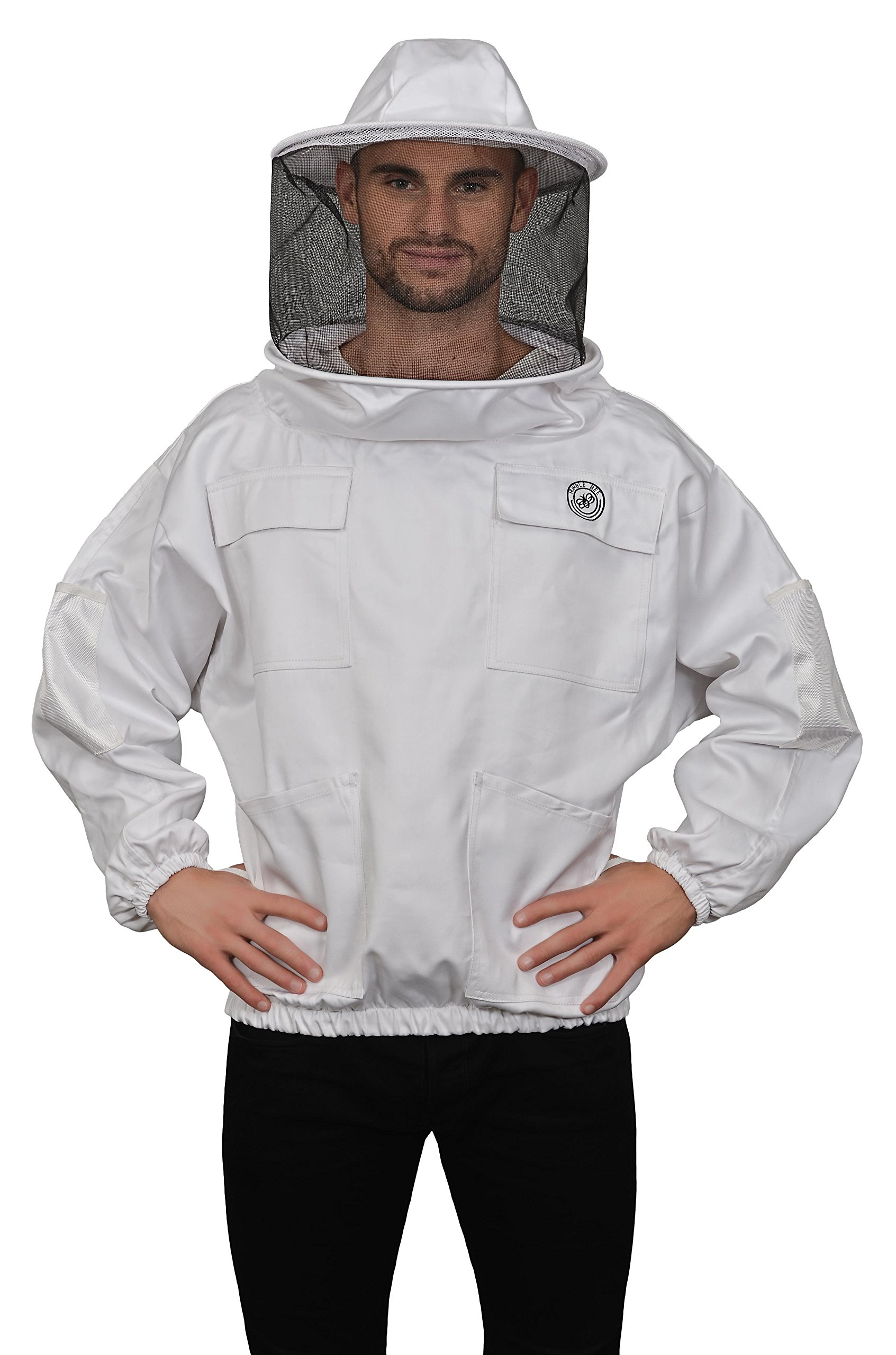 Humble Bee 510-L Polycotton Beekeeping Smock with Round Veil (Large) by Humble Bee