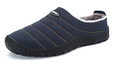 ec8586b6fadb DAFENP Hausschuhe Damen Herren Winter Wärme Gefütterte Plüsch Home  Rutschfeste Bequeme Slippers Freizeitschuhe Indoor Outdoor Pantoffeln
