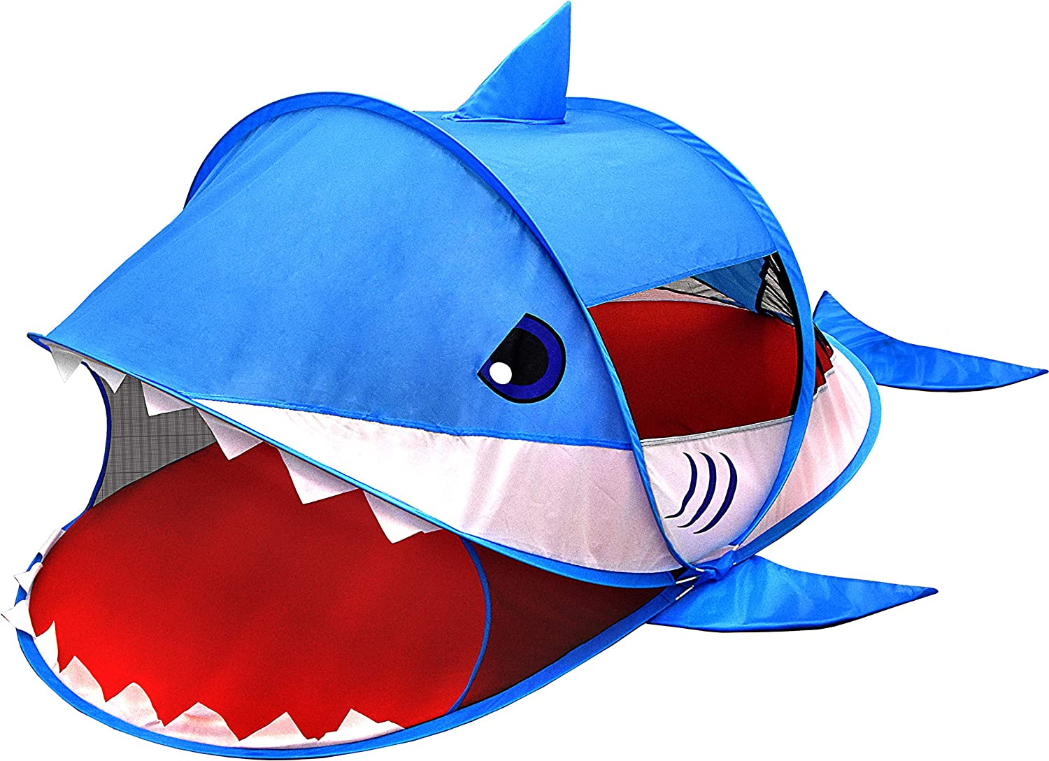 """Heritage Kids Pop Up Shark Play Tent with Carry Case, 71"""" L x 33"""" W x 35"""" H"""