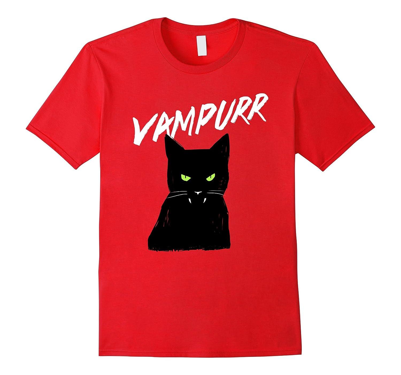 Vampurr Vampire Black Cat T-Shirt Halloween Tee-CL