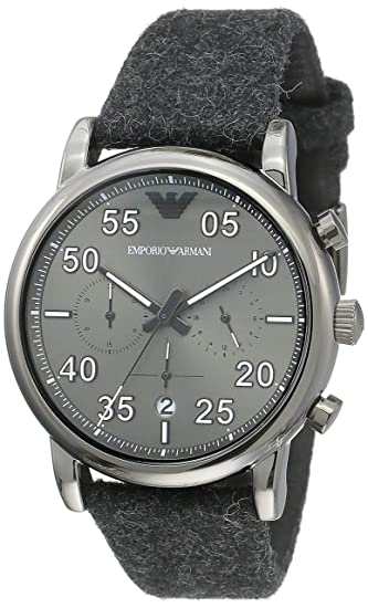 84ac799132d Buy Emporio Armani Luigi Analog Grey Dial Men s Watch - AR11154 Online at  Low Prices in India - Amazon.in