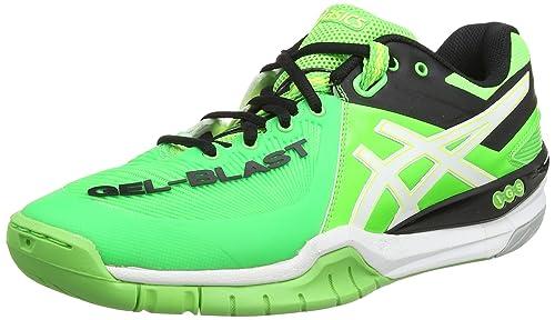 Asics Men's Gel Blast 6 Indoor Court Shoe,GreenWhiteBlack
