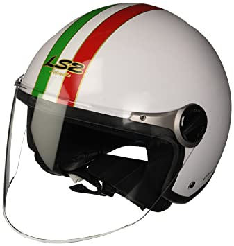 LS2 305602202XS OF560 Casco Rocket II Trip, Color Blanco, Tamaño XS