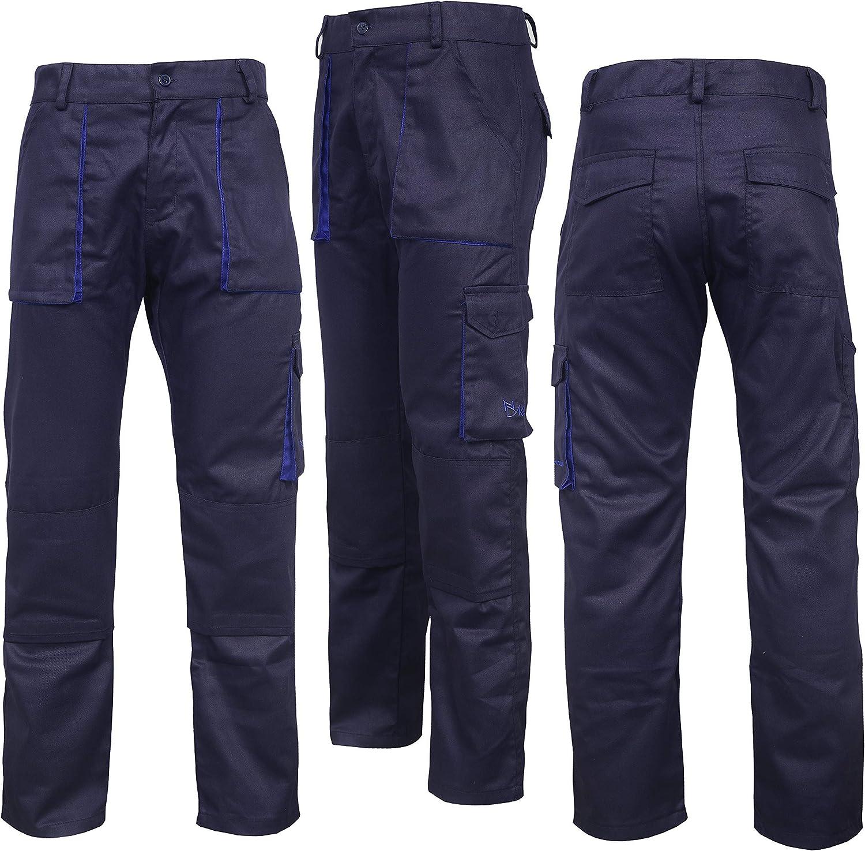 Workwear Branded Mens Multi Pocket Cargo Trousers Combat Hard Wearing Trousers