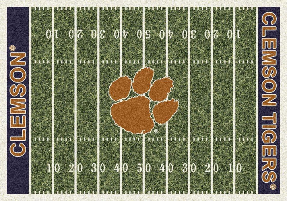 Milliken 4000018687 Clemson College Home Field Area Rug, 10'9'' x 13'2'', 01050 Home Field