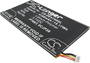 4100mAH Replacement for DELL Venue 8 3830, Venue 8 3840, Venue 8 T02D 3830 Battery, P/N 0CJP38, 0DHM0J, 0YMXOW