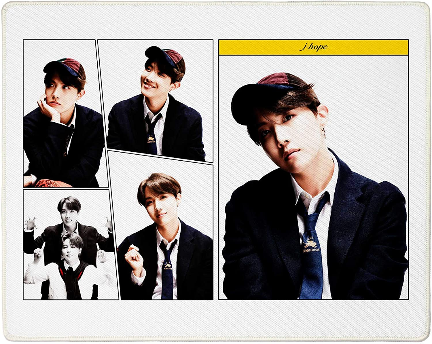 K23 7 Album 17.3 x 13.7 inch Stitched Edge Mousepad with lomo Card Fanstown Kpop BTS Bangtan Computer Mouse Pad MAP of The Soul