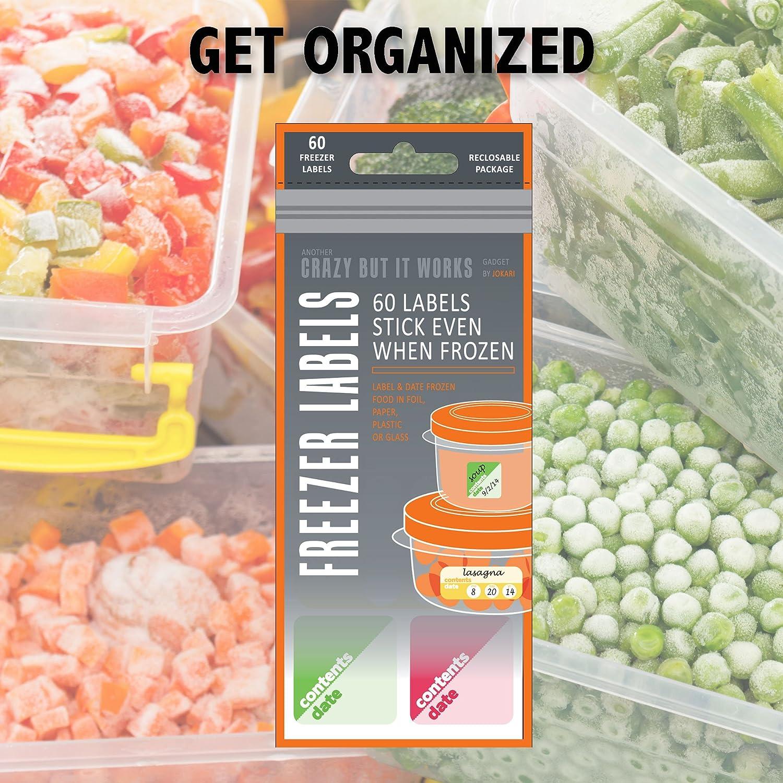 Congelador etiquetas 3 unidades para alimentos Prep, Best Way para ...