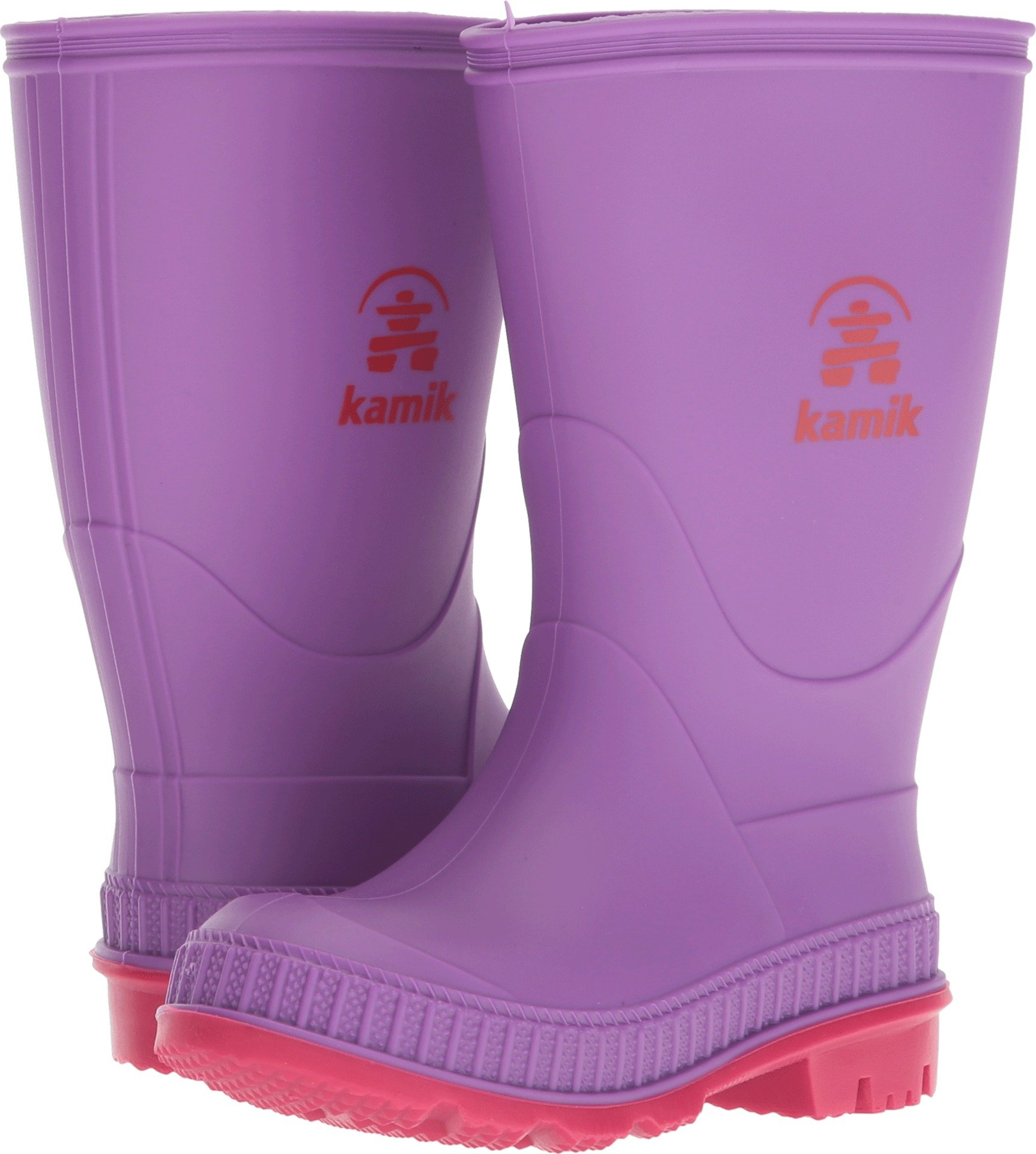Kamik Girls' Stomp, Purple/Bright Rose, 12 M US Little Kid