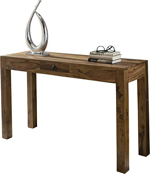 Wohnling mesa consola de madera maciza, Sheesham consola con 1 ...