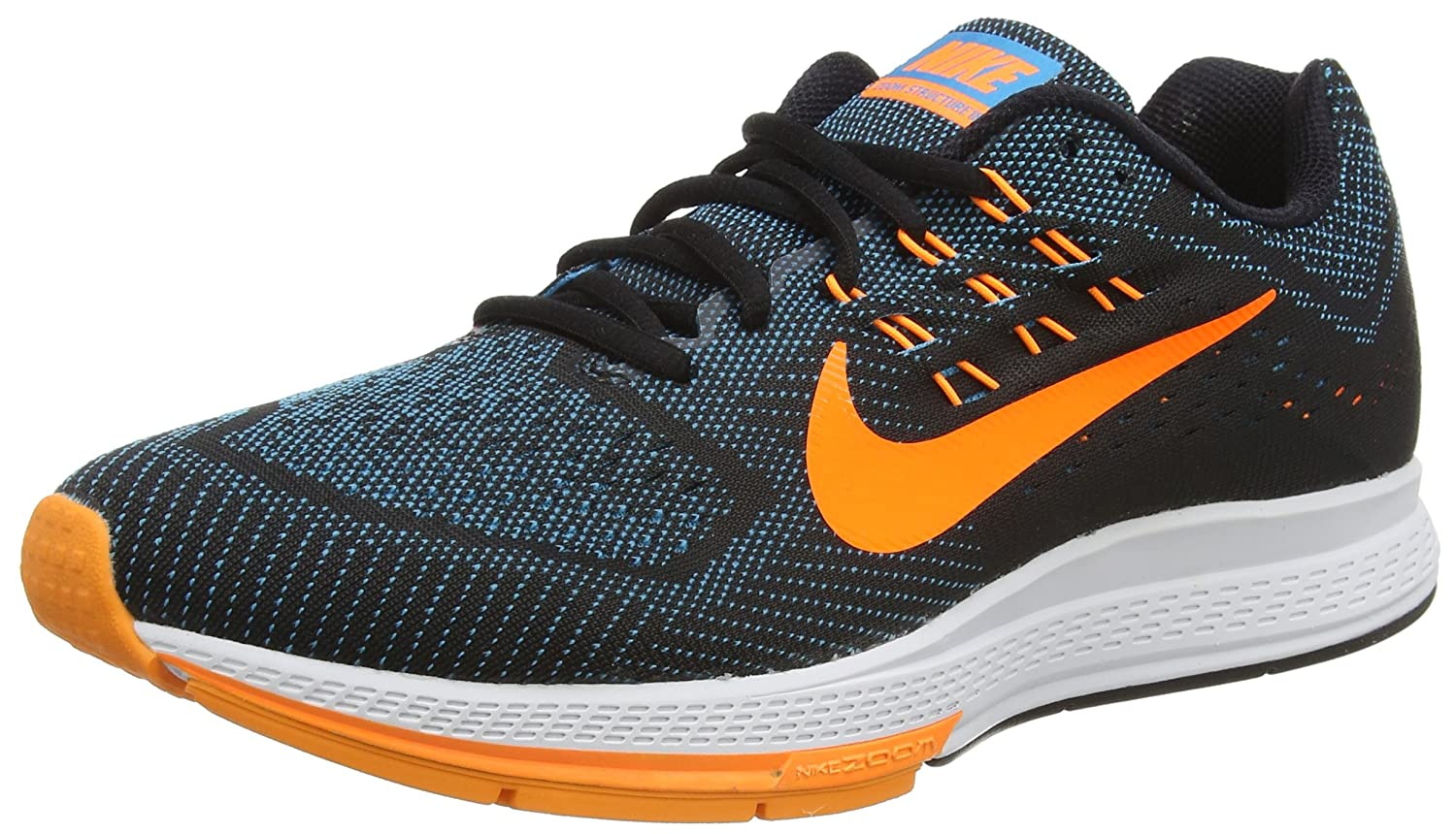 00be09f75df12 ... Nike Air Zoom Structure 18 Mens Running Trainer Multicolor (Blue  LagoonOrangeBlackBright Crimson) 10 UK ...