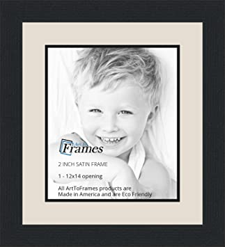 Amazoncom 12x14 12 X 14 Picture Frame Satin Black 2 Wide With