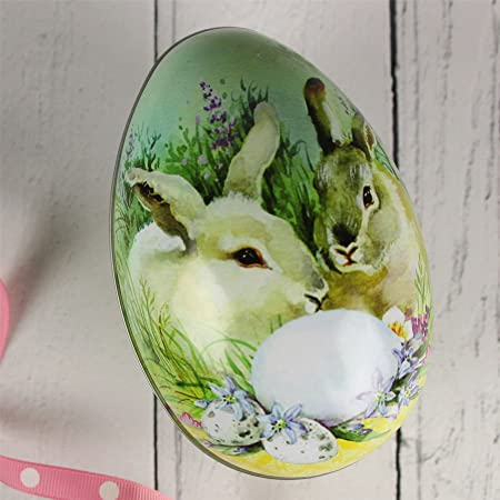 Bunny rabbit easter egg gift tin amazon kitchen home bunny rabbit easter egg gift tin negle Images