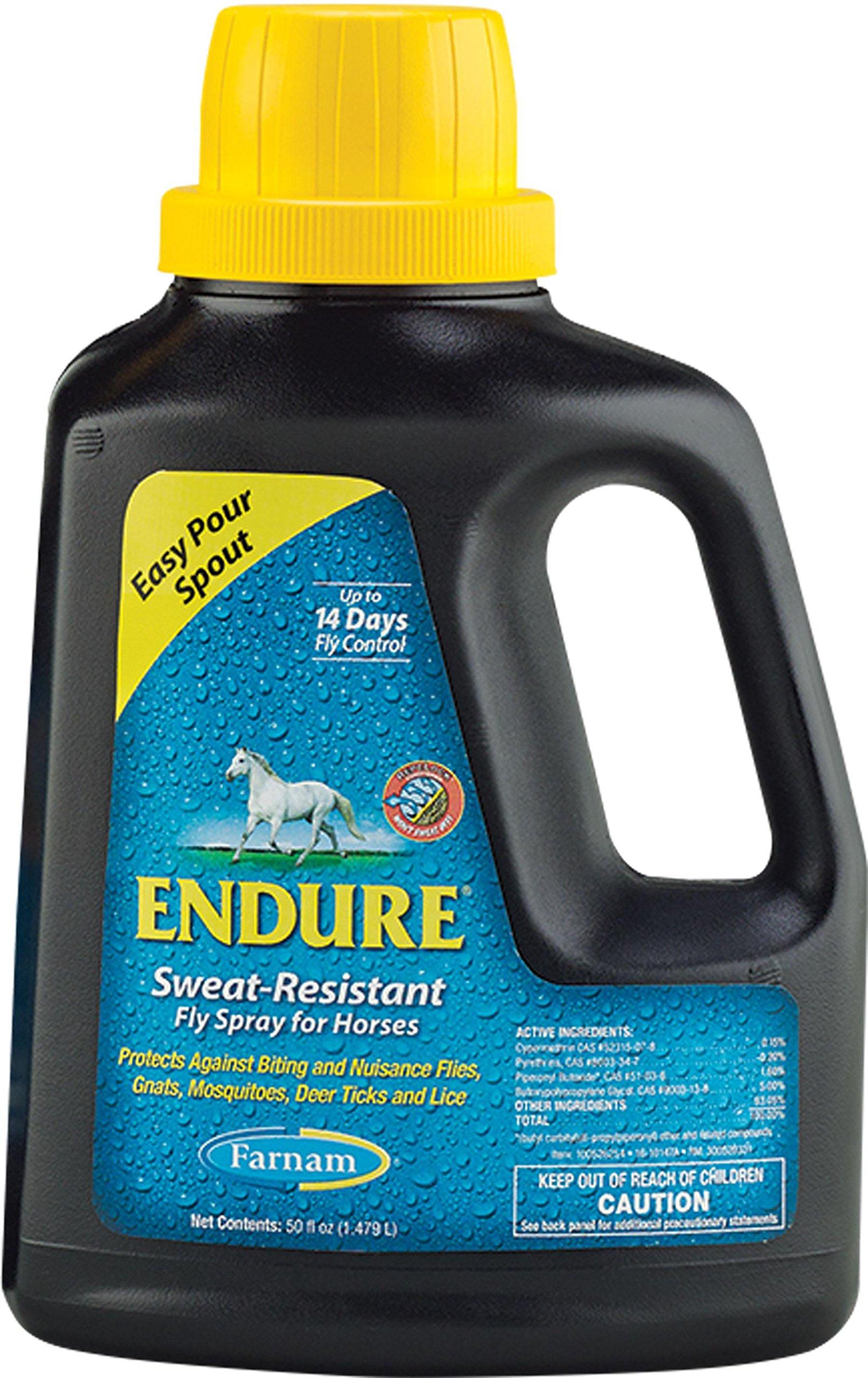 FARNAM Companies INC Endure Sweat-Resistant Fly Spray for Horses 50 Ounce