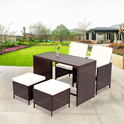 Outdoor wicker dining sets Belham Living Monticello Allweather Wicker Sofa Sectional Image Unavailable Amazoncom Amazoncom Wisteria Lane Pcs Patio Furniture Dining Set Outdoor