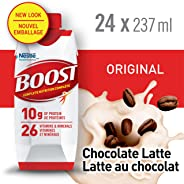 BOOST Original Chocolate Latte Meal Replacement Drink, 24 x 237ml - PACKAGING MAY VARY