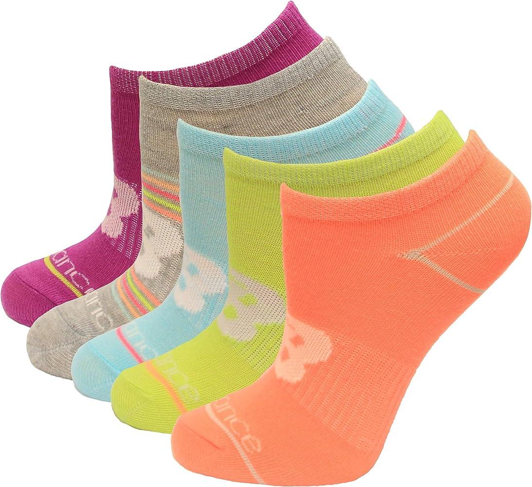 New Balance Kid's No Show Socks, Assort