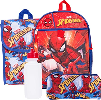 Amazon.com: Marvel Spiderman – Juego de mochila de Spiderman ...