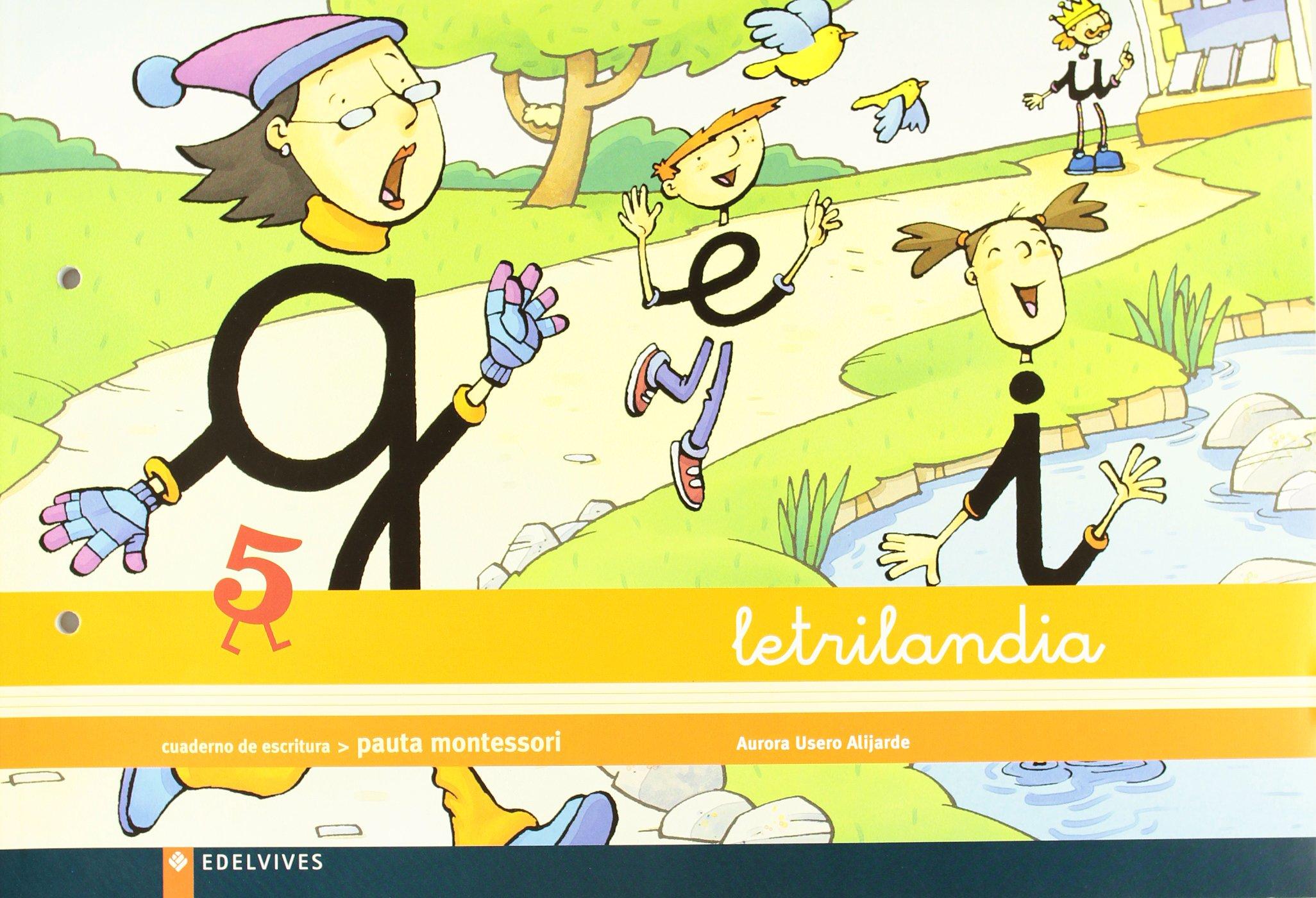 Letrilandia Cuaderno de Escritura, Pauta Montessori 5: Amazon.es: Aurora  Usero Alijarde: Libros