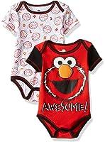 Sesame Street Baby Boys' Elmo 2 Pack Bodysuit Layette Set