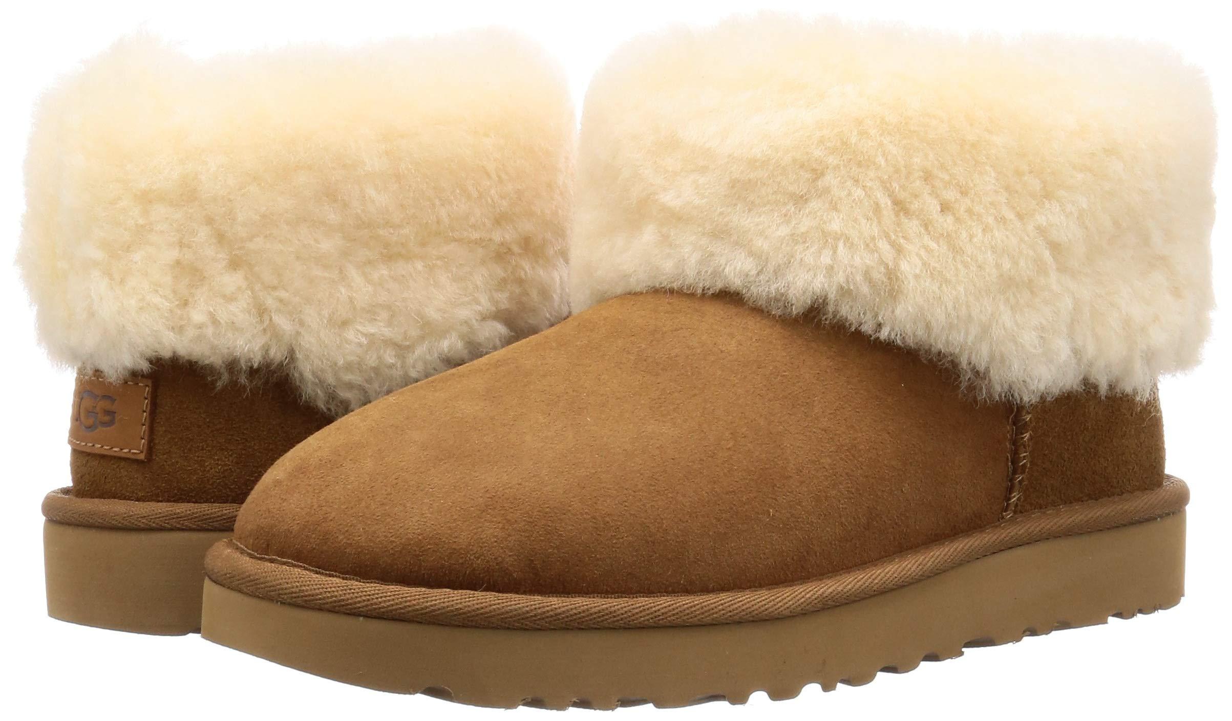UGG Women's Classic Mini Fluff Ankle Boot