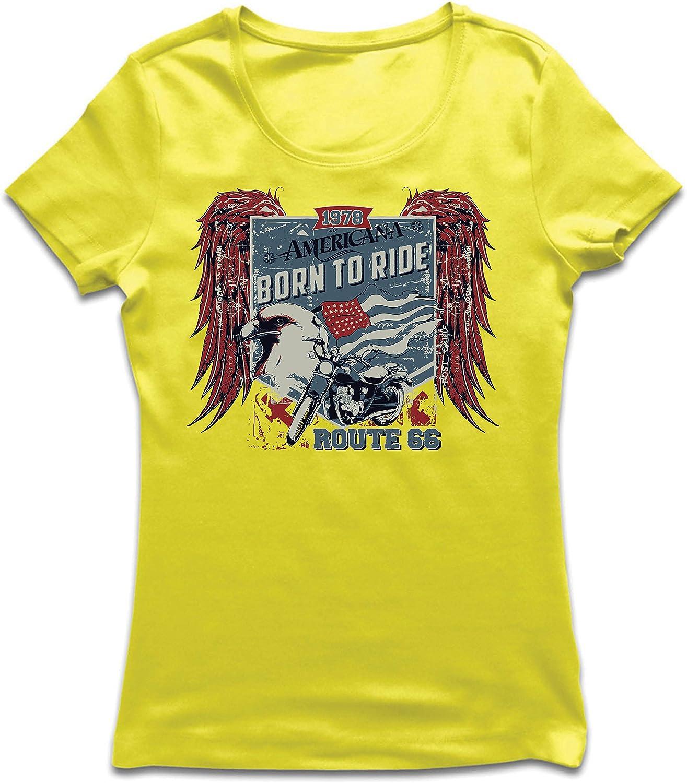 lepni.me Camiseta Mujer Ruta histórica 66 - águila de la Bandera Americana, Camisa clásica de la Motocicleta: Amazon.es: Ropa y accesorios