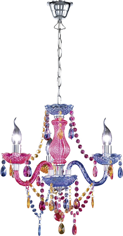 Reality Luster - Lámpara colgante de 3 luces. Necesarias 3 bombillas E14 de máximo 40W excluidas. Cuerpo acrílico multicolor