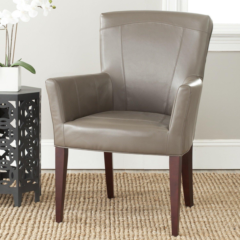 Amazoncom Safavieh MCR4710A Dale Arm Chair Accent Chairs Brown
