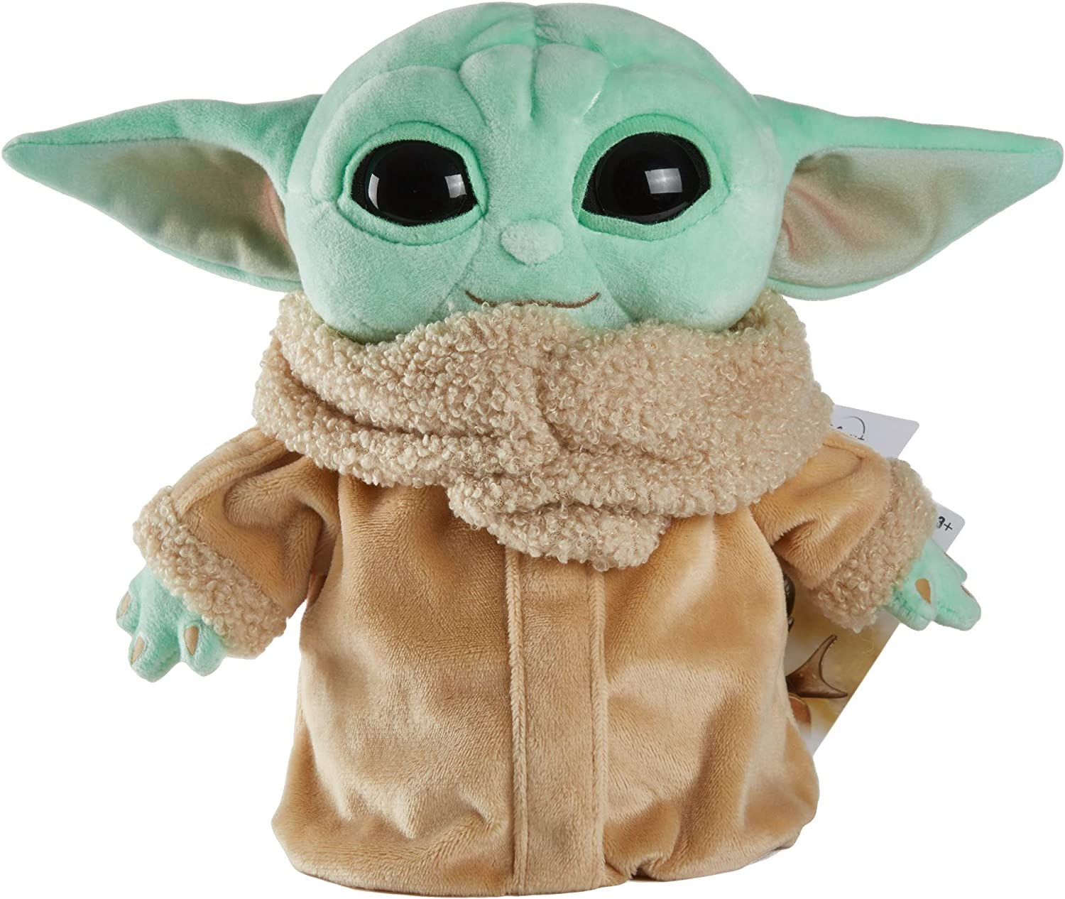 Mattel Star Wars The Child Plush Toy, 8-in Small Yoda Baby Figure from The Mandalorian, Collectible Stuffed Character for Movie Fans of All Ages, 3 and Older, Green, Model Number: GWH23