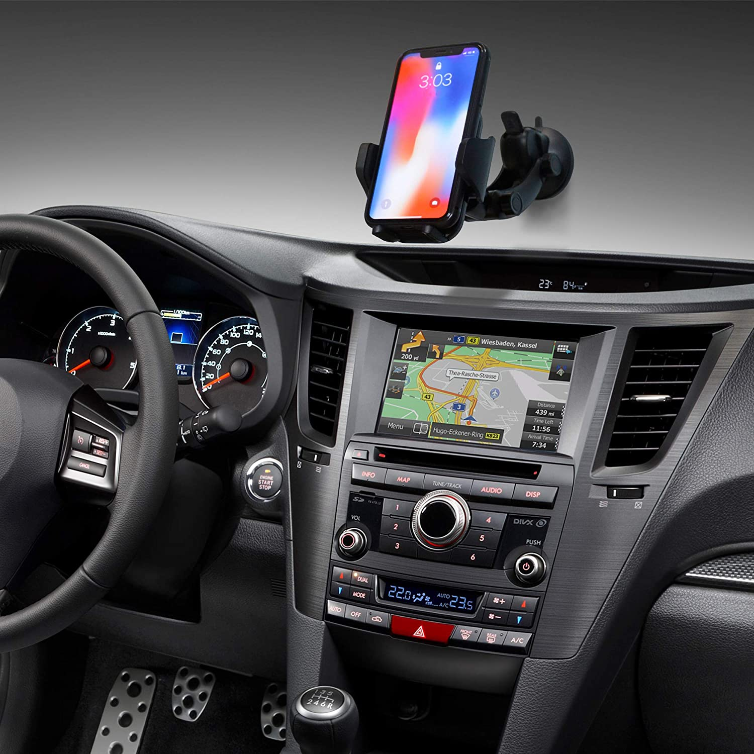 Black Galaxy S5//S6//S7//S8 TIDLAY Car Mount Holder Universal Phone Holder 360 Degree Rotation for iPhone X//8//8Plus//7//7Plus//6s//6Plus//5S LG Car Stand and More Google Nexus