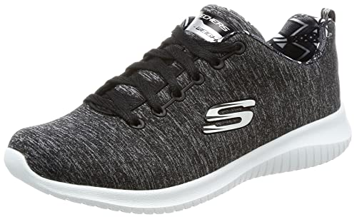db43346bb502 Skechers Women s Ultra Flex-First Choice Black White Sneakers-3 UK India