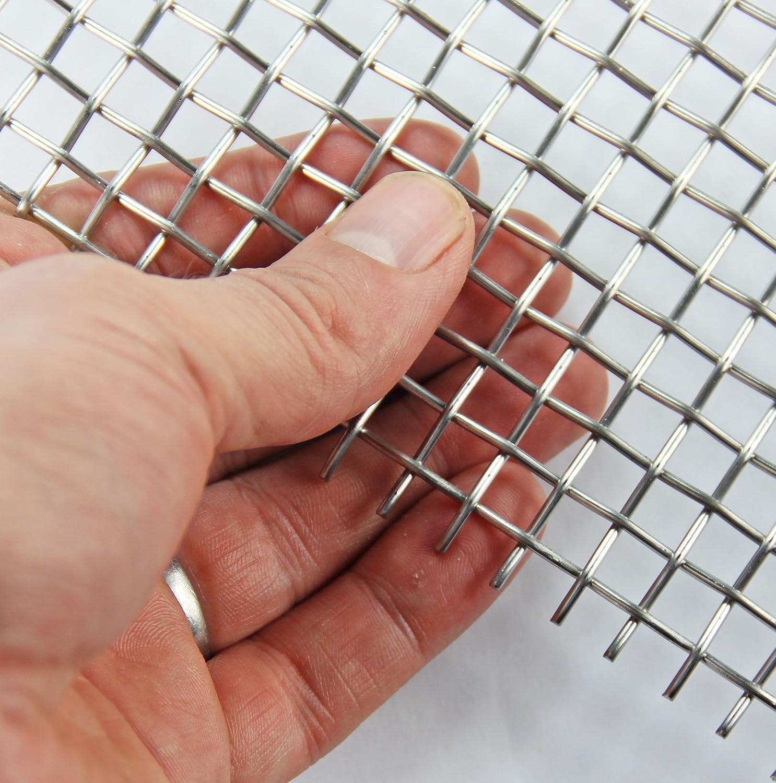 Woven Wire Mesh A4 Sheet 1.6mm Wire Diameter 6.87mm Aperture #3 Mesh VERY STRONG MESH SS316 Grade 210 x 300mm