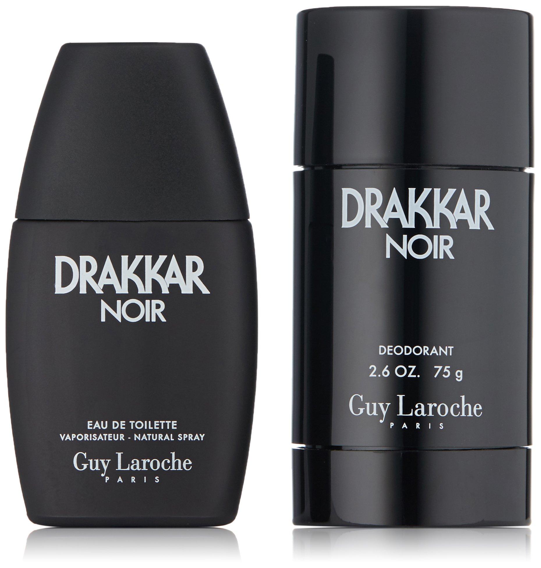 Guy Laroche Drakkar Noir Eau de Toilette Spray 1.0 Fl Oz and Deodorant Stick Gift Set