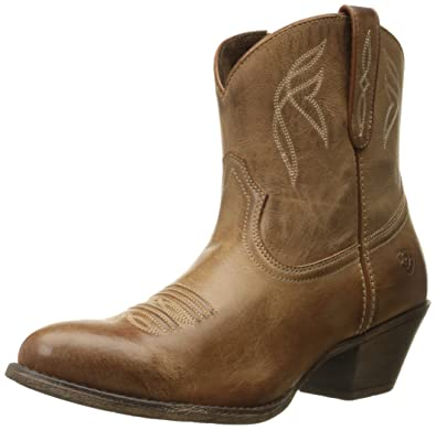 Women's Darlin Work Boot Naturally Dark Brown 10 B US