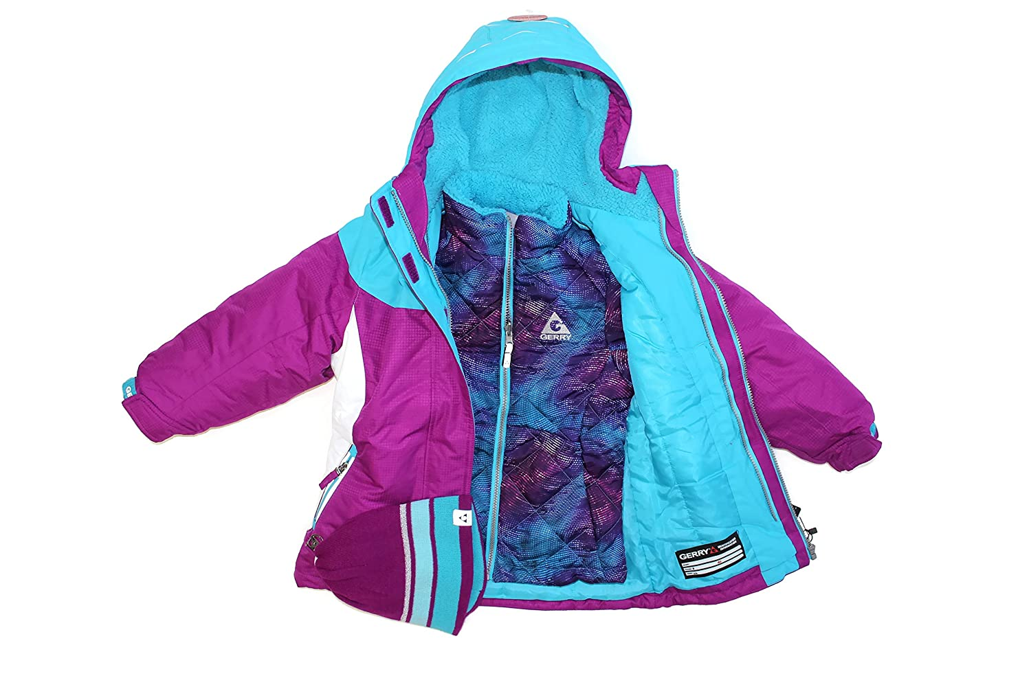 3f75b442110 Amazon.com: Gerry Girls' 3-In-1 Systems Jacket (X-Small, Crystal): Clothing