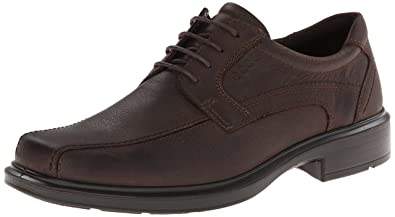 ECCO Men's Helsinki Bike Toe Tie Oxford,Coffee,45 EU/11-11.5