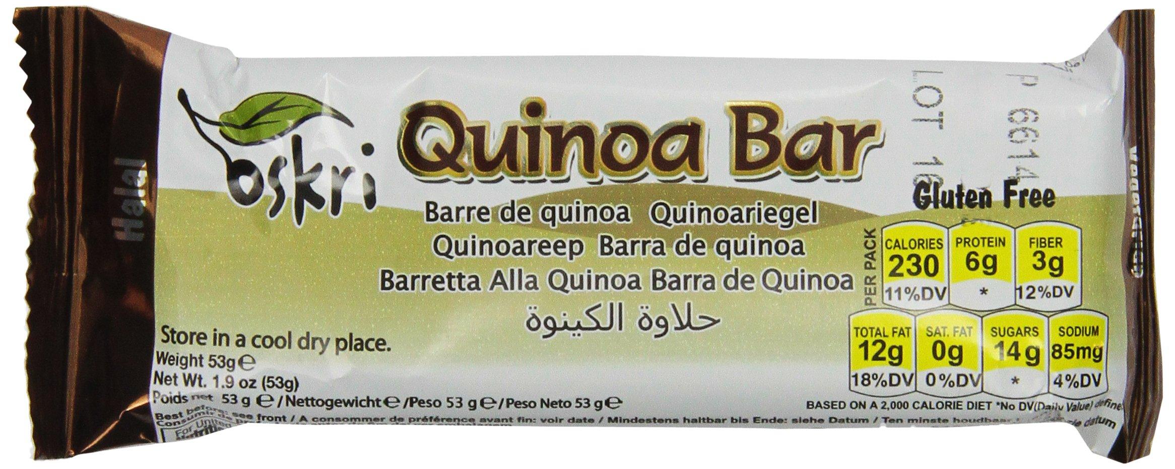 Oskri Quinoa Bar, Gluten Free, 1.9-Ounce Bars (Pack of 20)