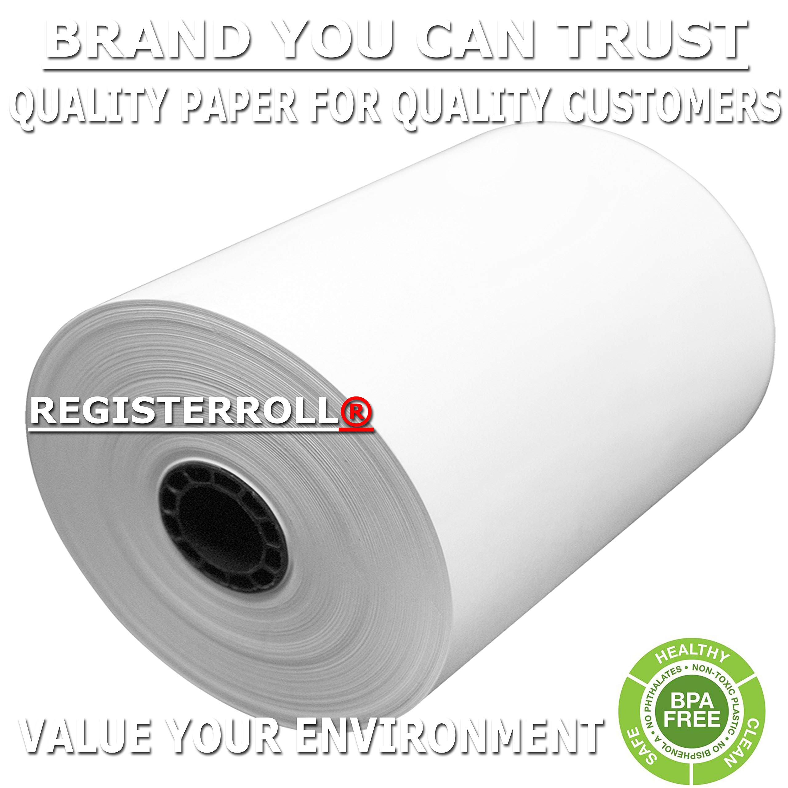 RegisterRoll 3-1/8'' x 273' (50 Rolls) Extra Long Thermal Paper Rolls BPA Free Made in USA