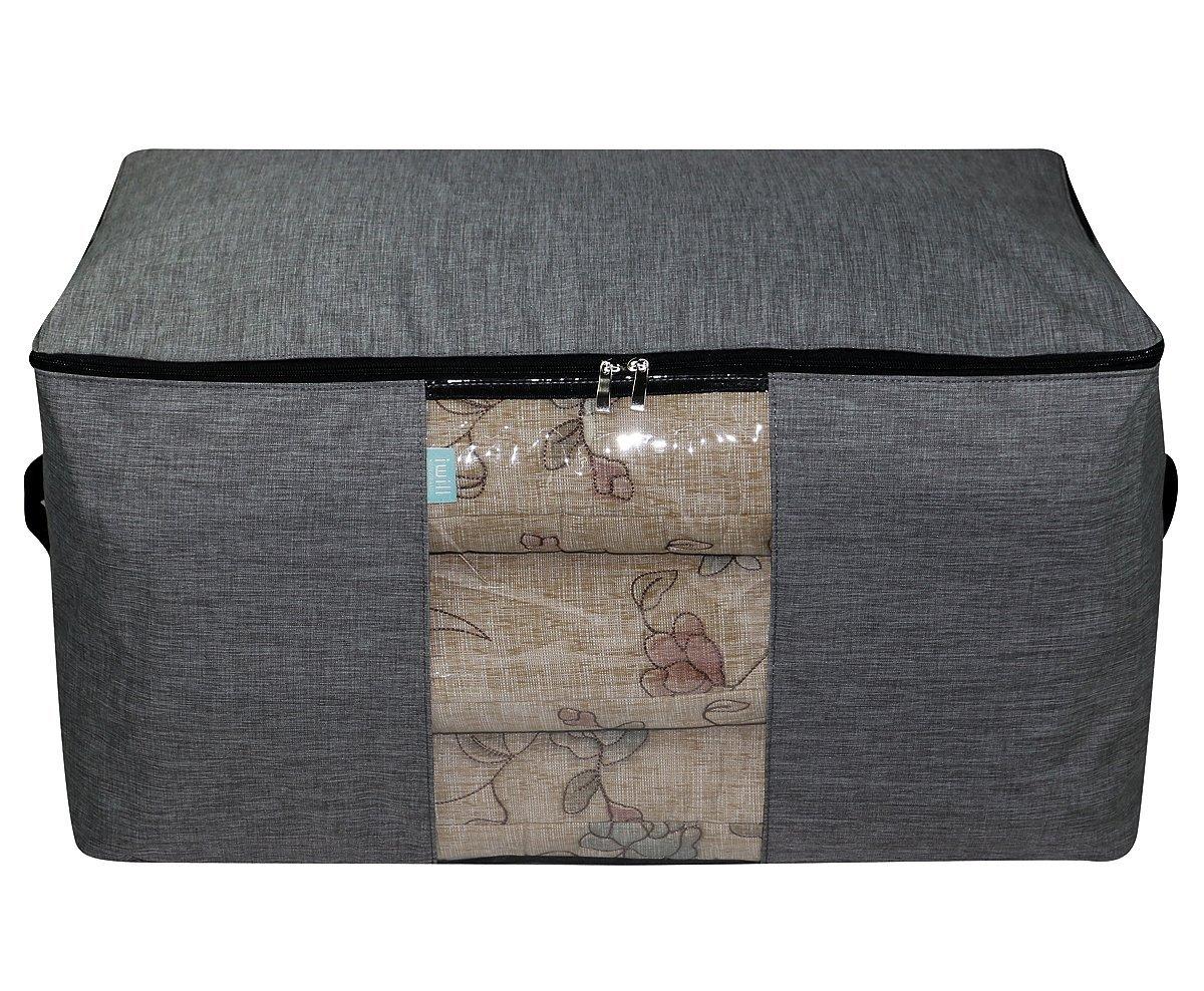 Jumbo Tamaño Impermeable Anti-polilla Caja de almacenamiento con cremallera para la organización del guardarropa, Ropa de temporada / ropa voluminosa ...