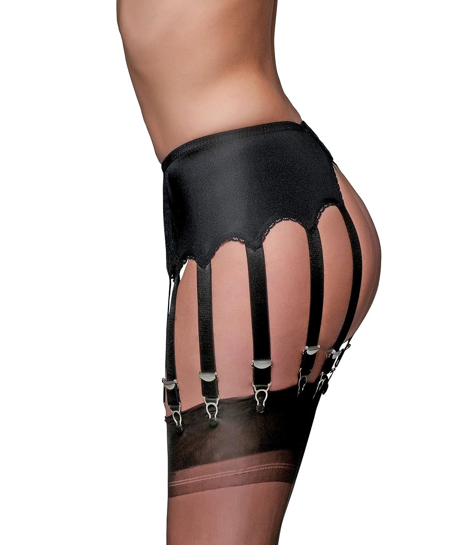 PL13 UK Premier Lingerie Lace 12 Strap Suspender Belt for Stockings