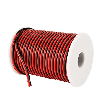 C-able 31M 100FT 18 AWG Gauge Electrical Wire Hookup Red Black ...