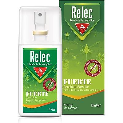 Relec Fuerte | Spray Antimosquitos | Repelente de mosquitos | Eficaz contral el mosquito tigre | Sin olor, sin perfume y sin alcohol | 75 ml