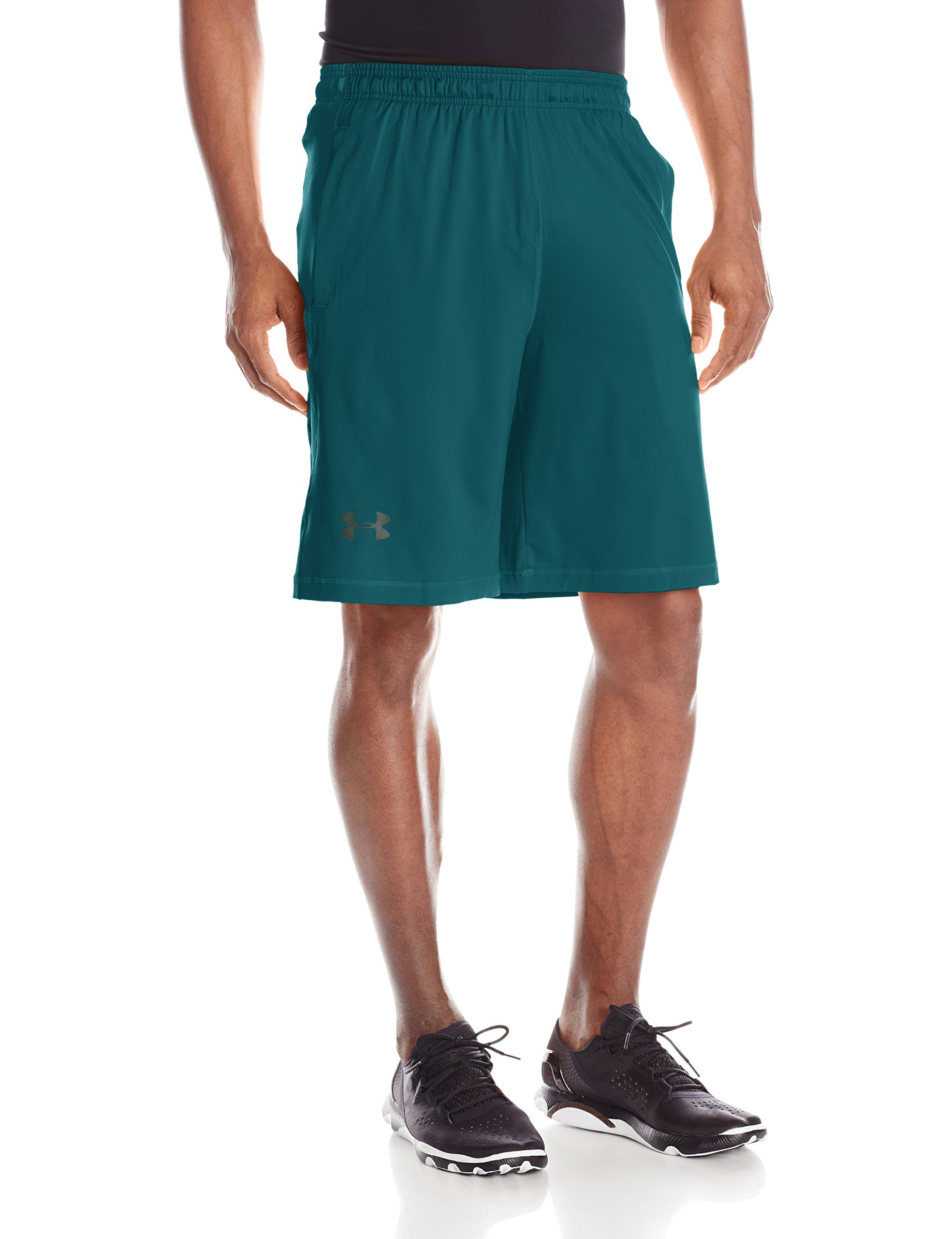 Under Armour Men's Raid 10'' Shorts, Tourmaline Teal /Stealth Gray, Small
