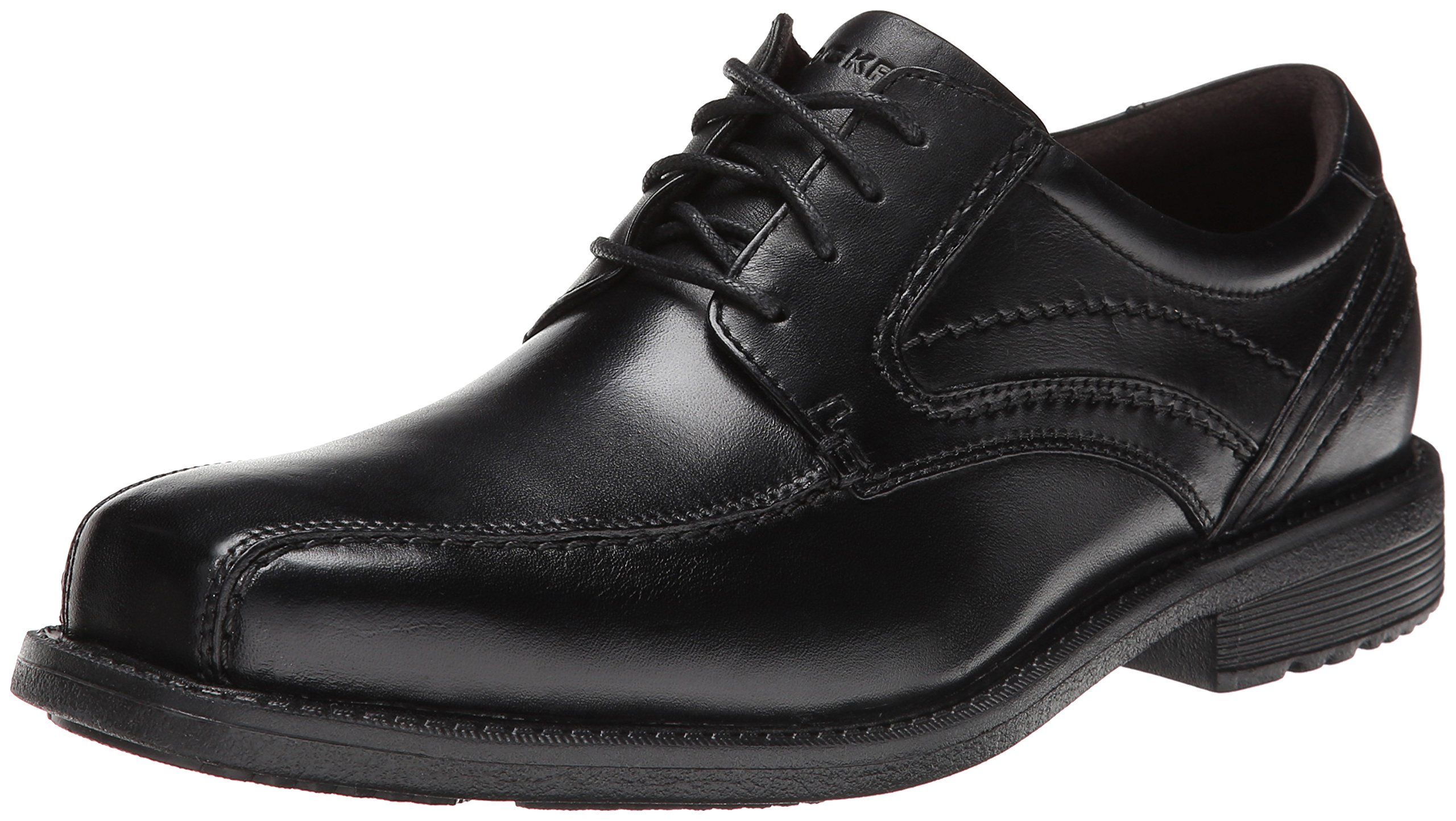 Rockport Men's Style Leader 2 Bike Toe Oxford Black Waxed Calf 9.5 M (D)-9.5  M